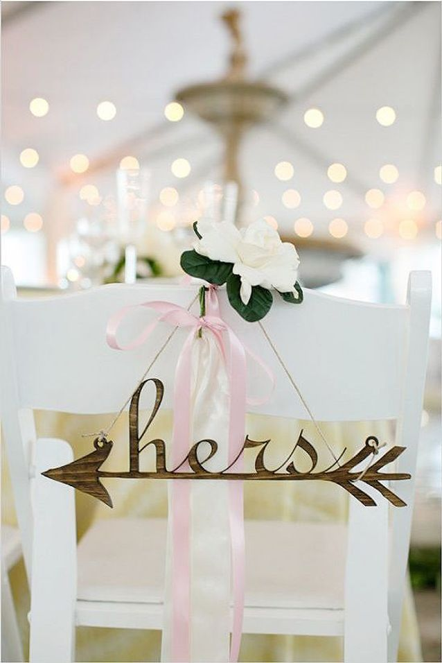 Chaise de mariage Cupidon