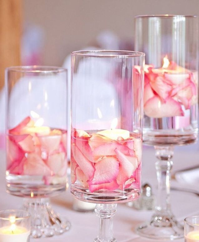 Pétales de roses pour photophore