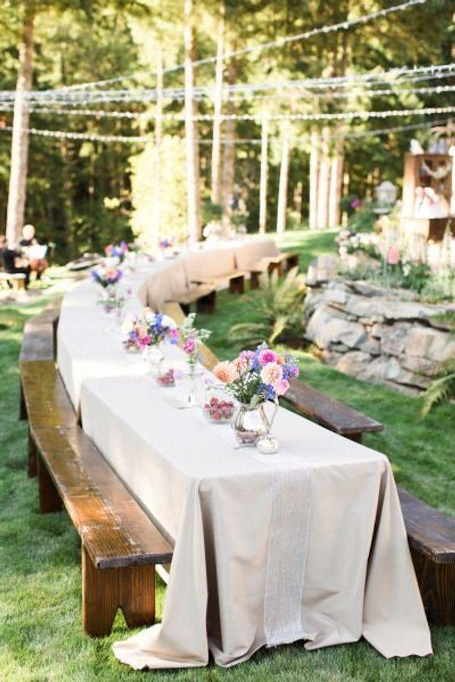 Dispositions de tables pour banquet