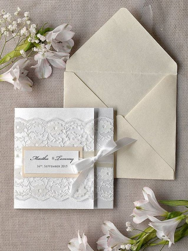 Faire-part mariage blanc
