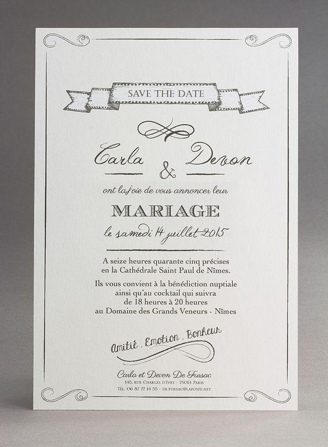 Faire Part Mariage Noir Et Blanc 20 Faire Part De Mariage