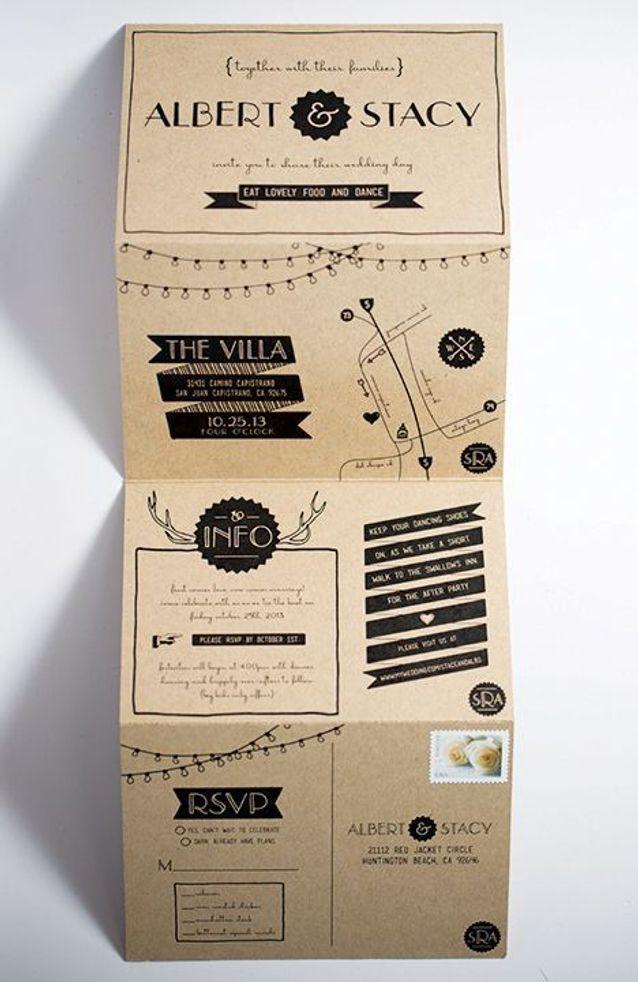Faire-part mariage papier recyclé