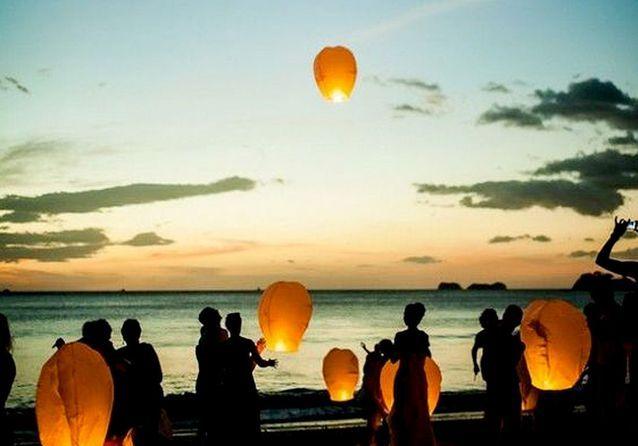 Les lanternes volantes, l'animation poétique d'une soirée fantastique