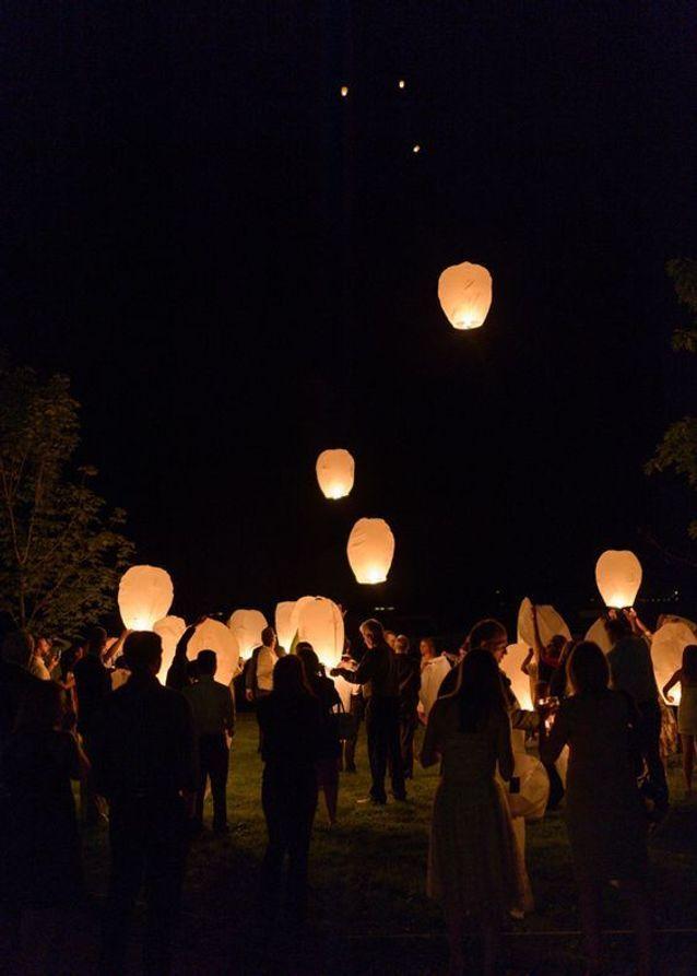 Lanterne volante à vœux
