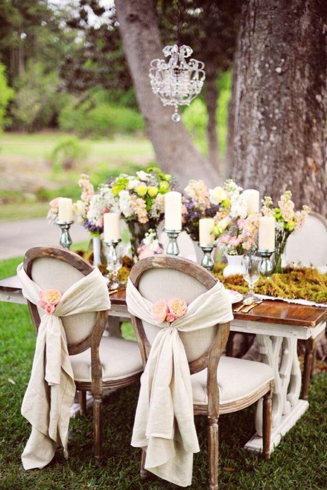 Mariage champêtre romantique