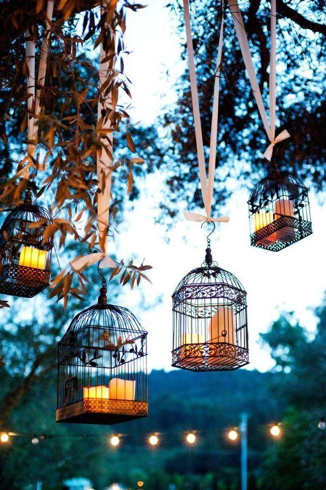 Des bougies en cage