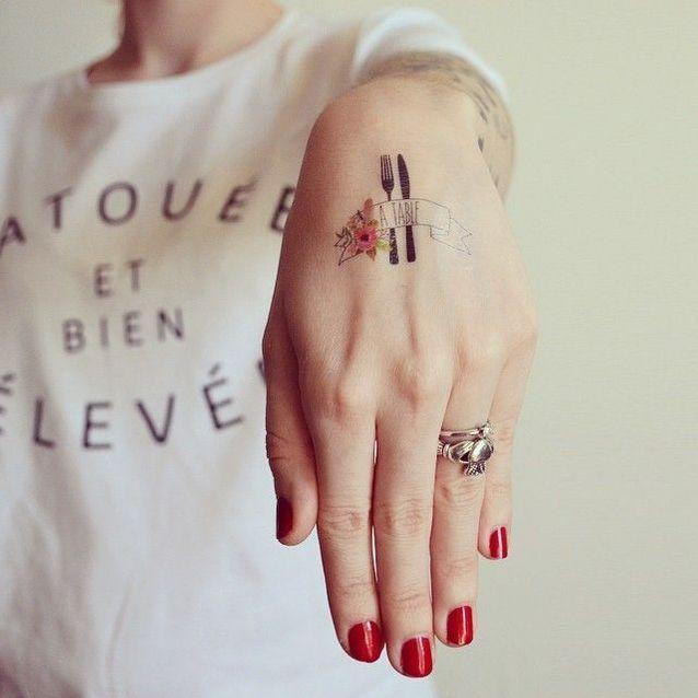 Des tatouages éphémères