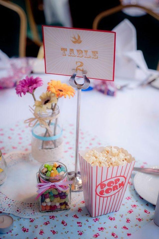 Mariage vintage centre de table