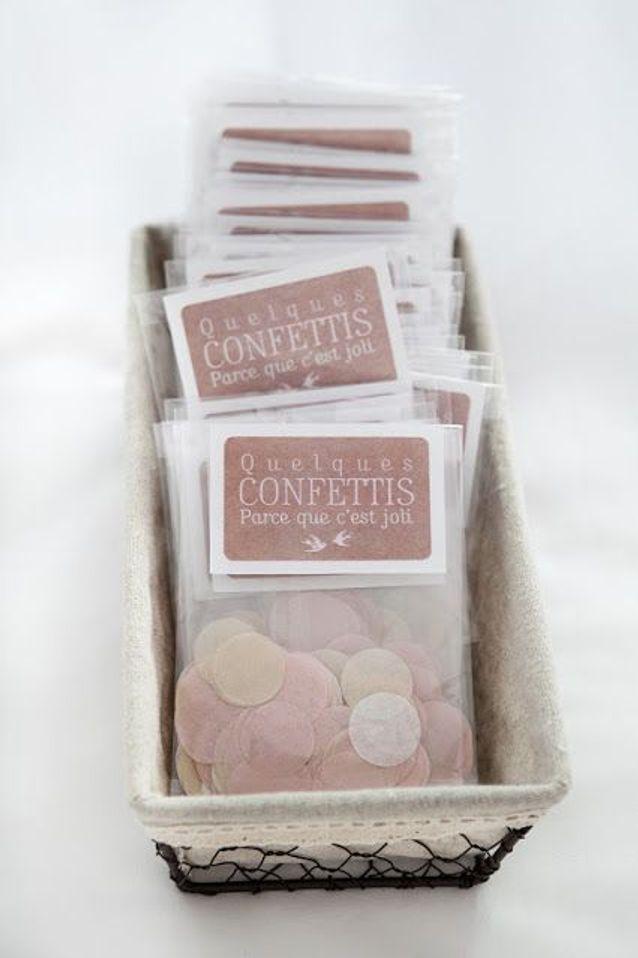 Sachet de confettis pour les invités