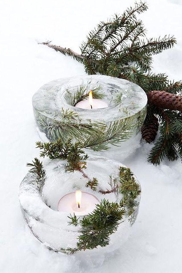 Photophore en glace