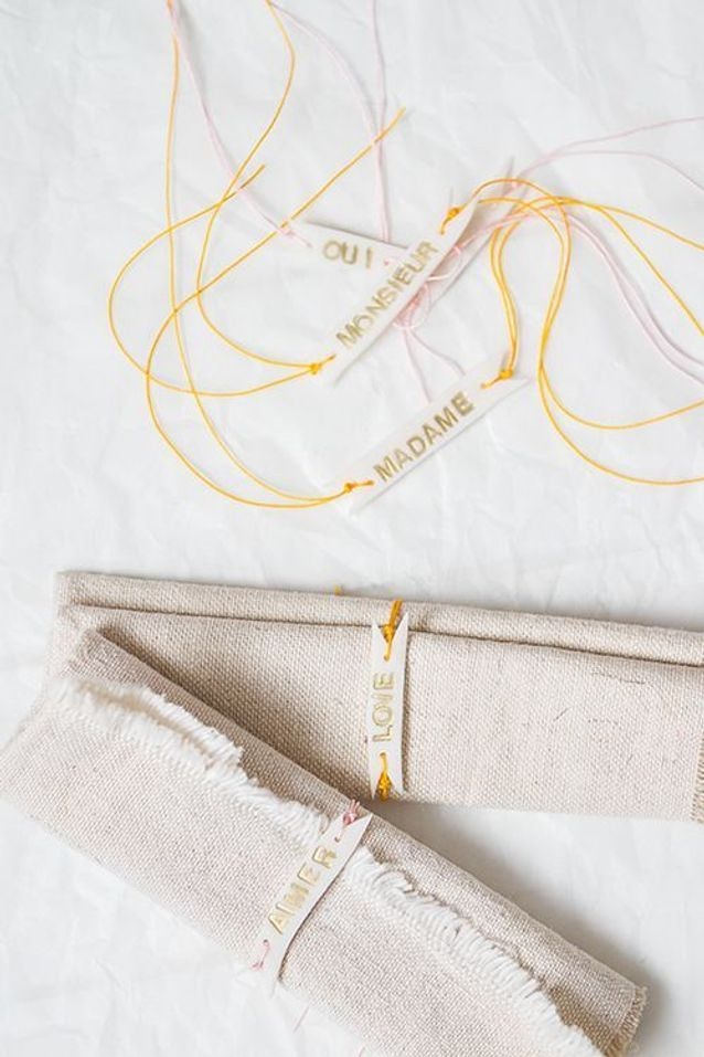 Rond de serviette avec prénom