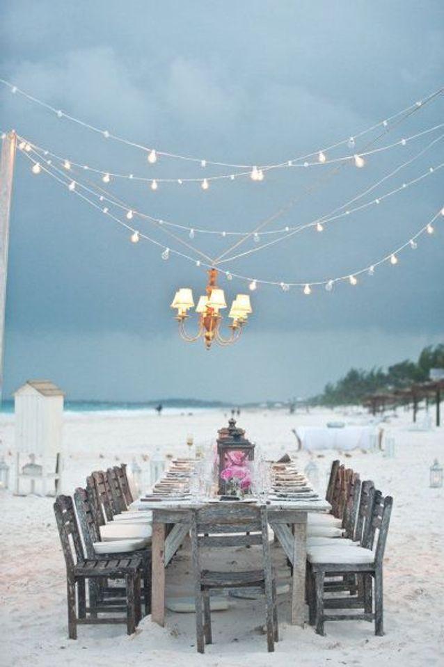 Thème mariage à la plage