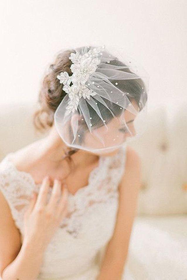 Voile de mariée avec strass