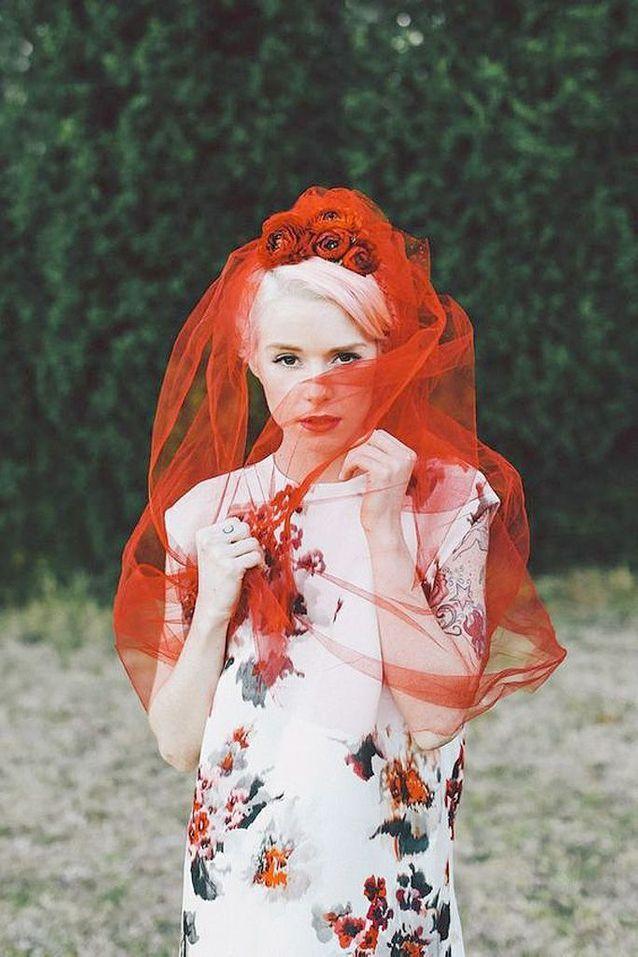 Voile de mariée couleur