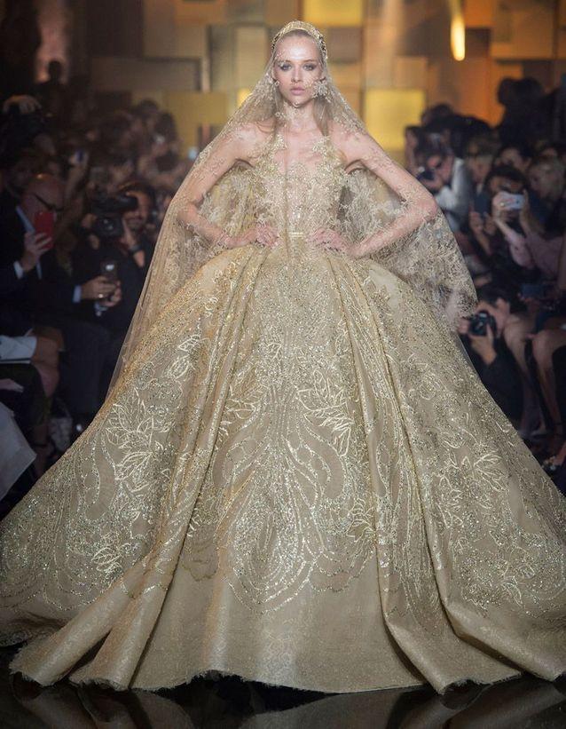 Robe De Mariee Elie Saab Haute Couture Automne Hiver 2015 2016 24 Mariees Haute Couture Elle