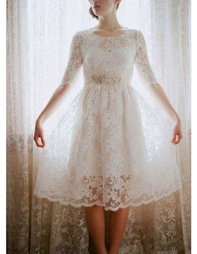 Robe de mariée rétro courte