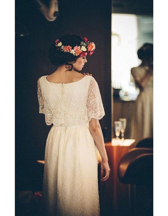 Robe de mariée rétro dentelle