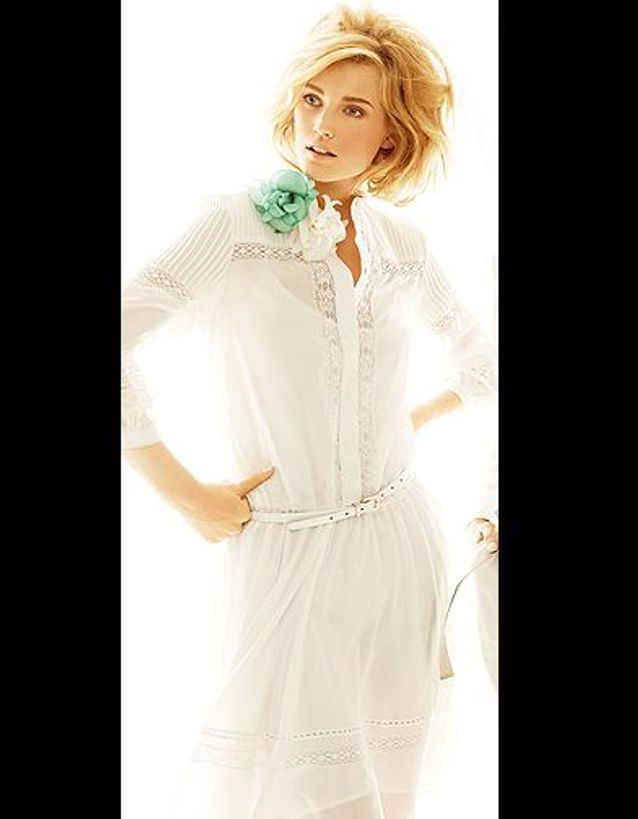 Robe blanche Max mara studio