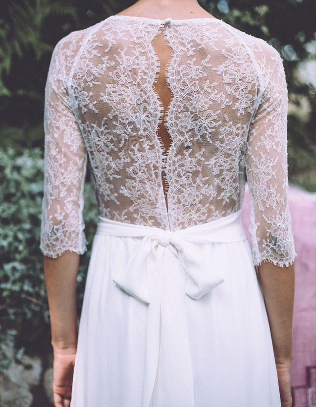 Robe de mariée avec noeud Pia