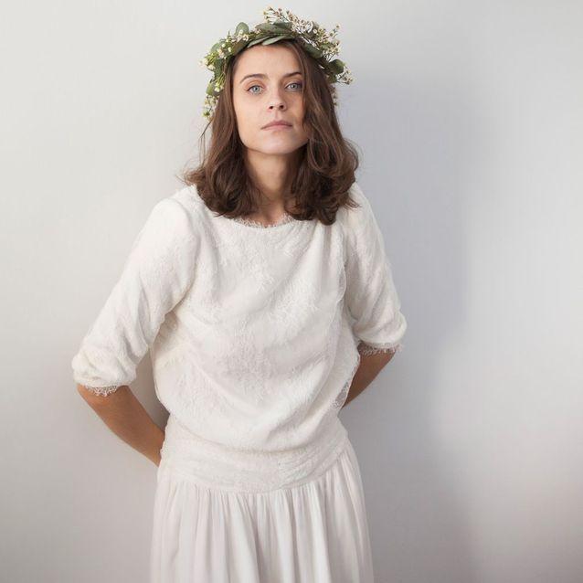 Robe de mariée hiver Maison Floret