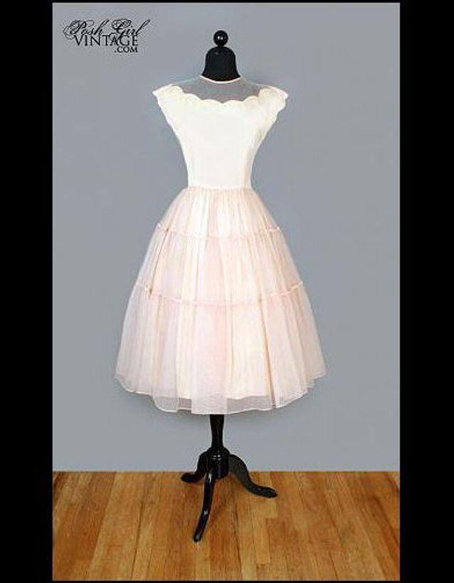 Robe de mariée Vintage annees 50