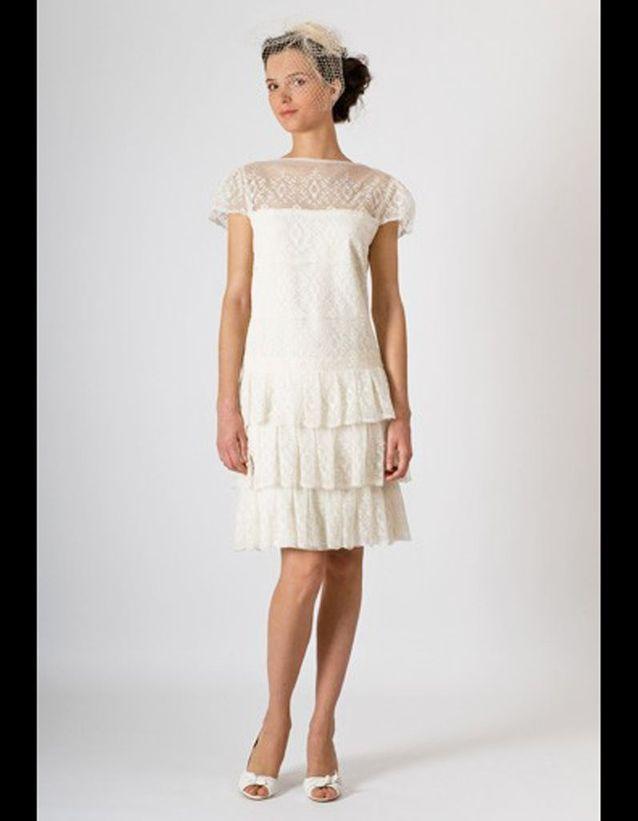 Robe de mariee courte avec tulle