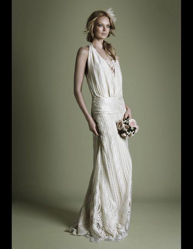 Robe En Crêpe Style Années 20 The Vintage Wedding Dress