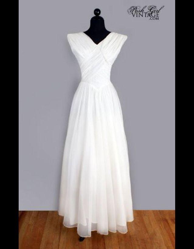 dans quelques jours meilleure qualité pour frais frais Robe en mousseline de soie années 50 Posh Girl Vintage - 50 ...