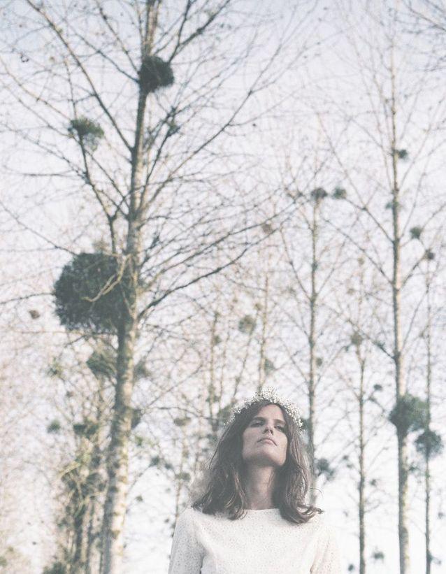 La poésie de la robe de mariée Flowers