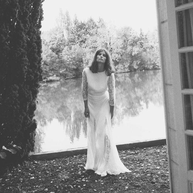 La robe de mariée bi-matières Love Love Love