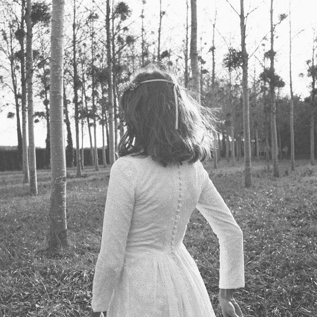La robe de mariée Flowers vue de dos