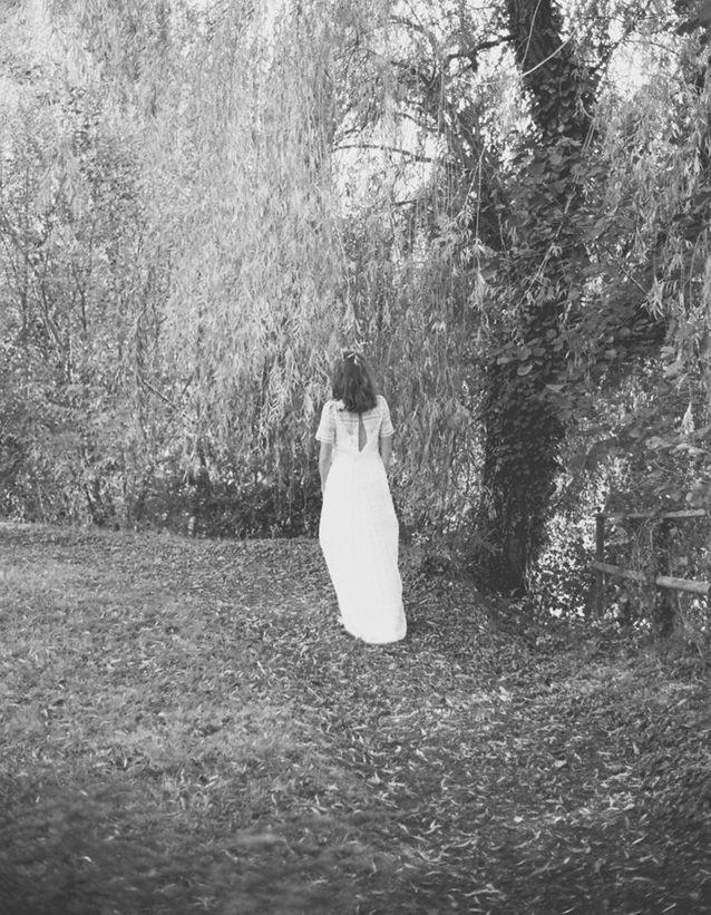 La robe de mariée Holiday Snapshots vue de dos