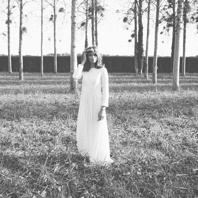 La robe de mariée longue Flowers