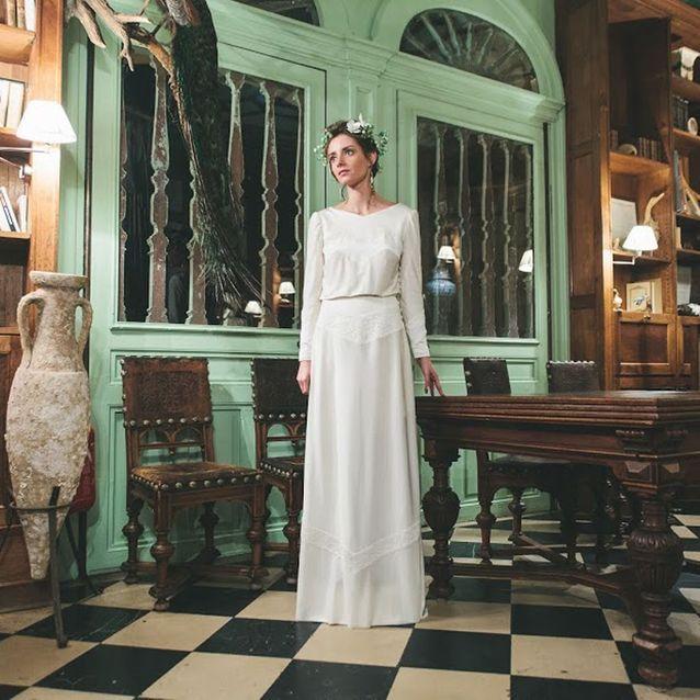 Créateur de robe de mariée sur-mesure Constance Fournier