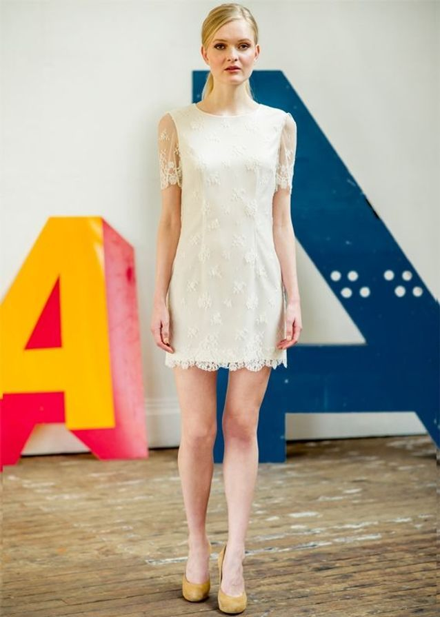 Robe de mariée créateur courte Atelier Anonyme