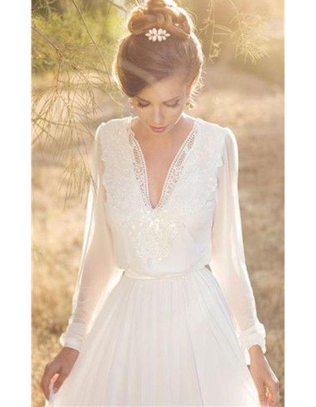a23c096b60f Robe de mariée dentelle manche longue - 30 robes de mariée en ...