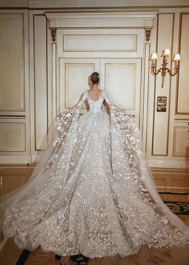 Robe de mariée princesse spectaculaire