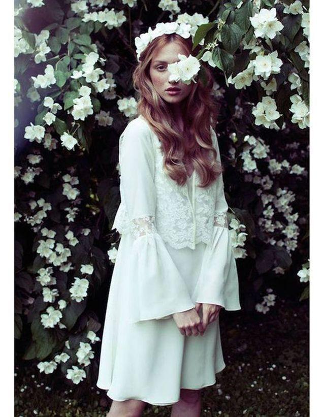 Robe de mariée de princesse courte