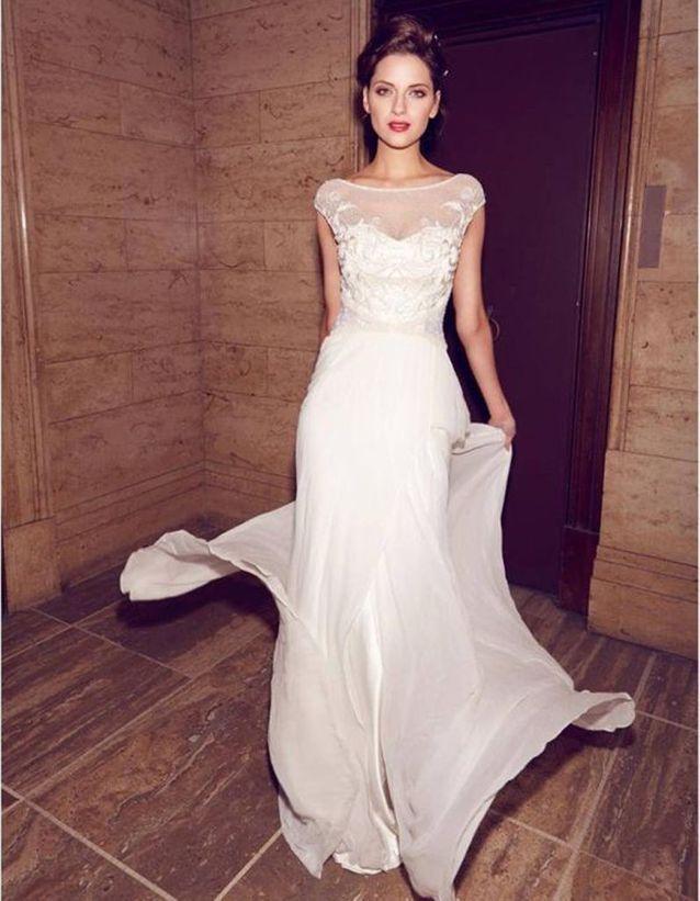 Robe de mariée de princesse en dentelles