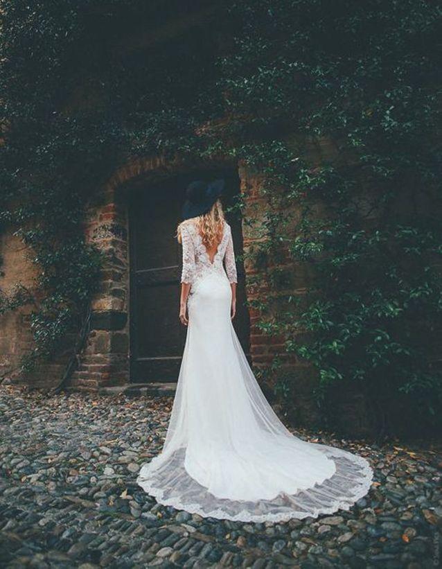 Robe de mariée de princesse haute couture