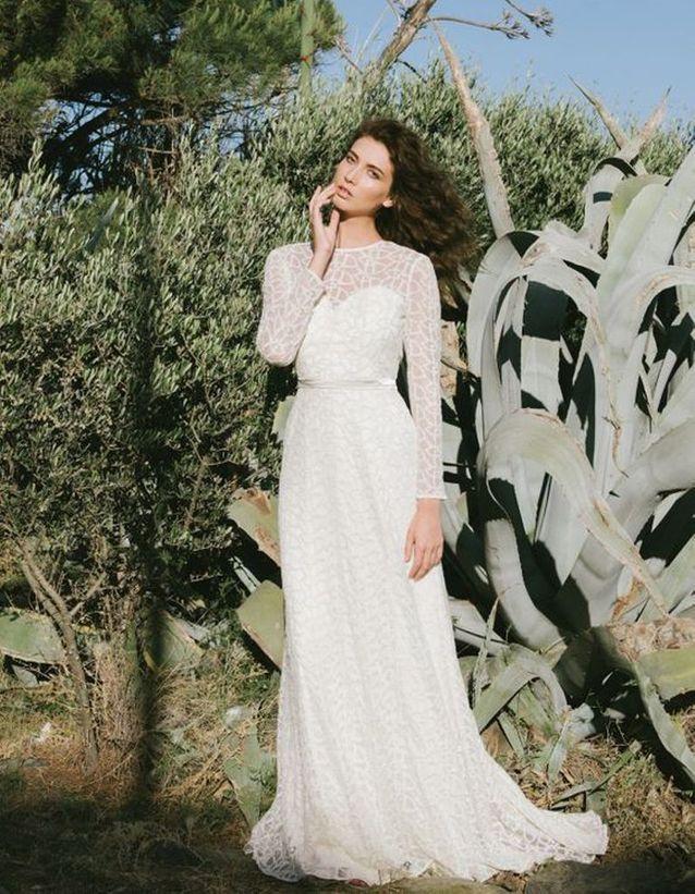 Robe de mariée de princesse imprimée