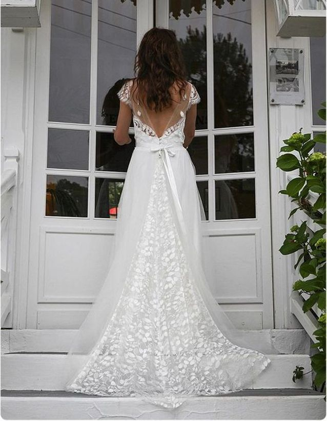 Robe de mariée de princesse longue