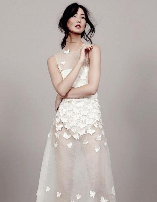 Robe de mariée de princesse transparente
