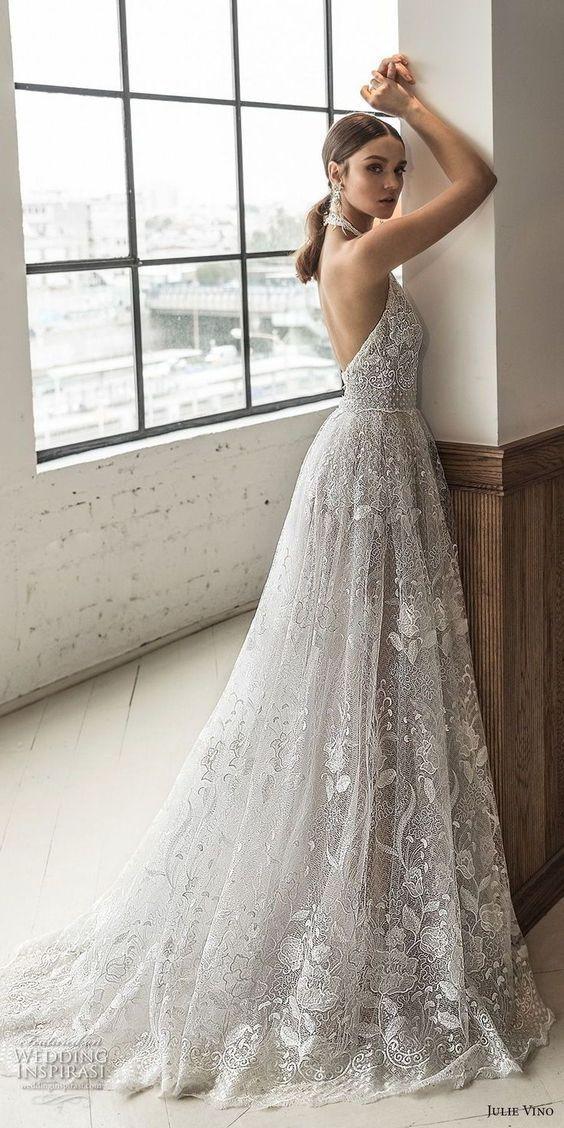 Robe de mariée princesse dentelle fine -