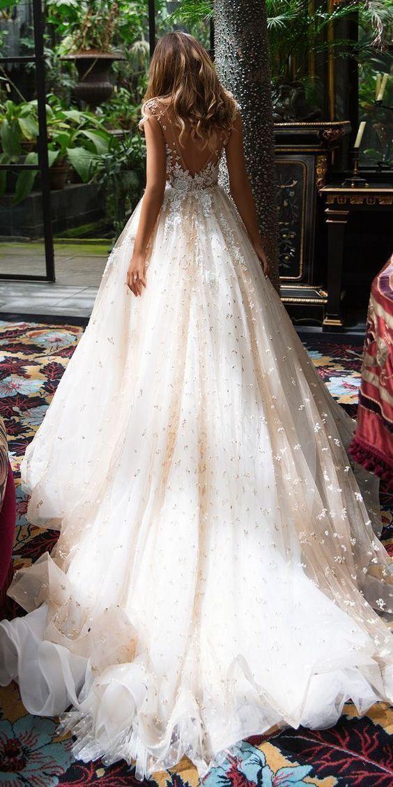 Robe de mariée princesse traine
