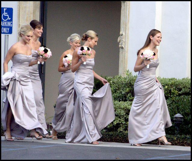 La robe de demoiselle d'honneur de Jennifer Garner