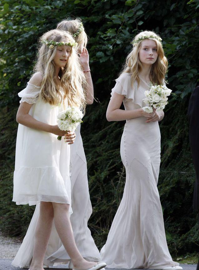 La robe de demoiselle d'honneur de Lottie Moss au mariage de Kate Moss et Jamie Hince