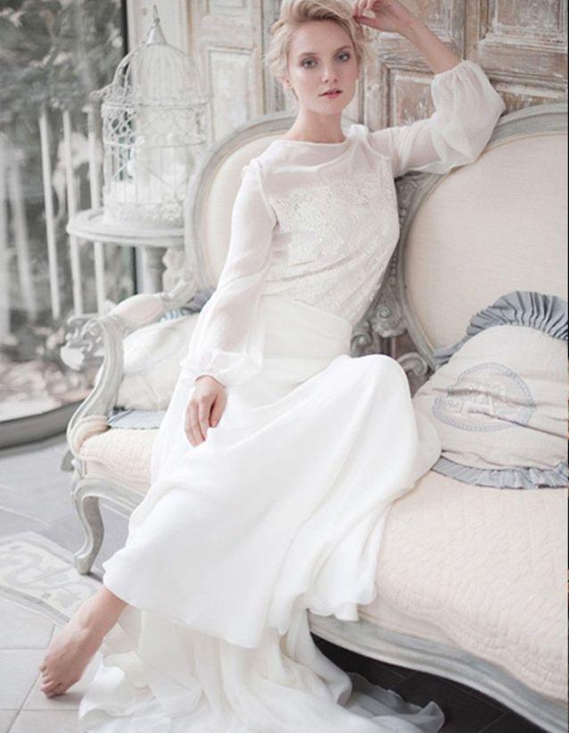 Robe de mariée d'hiver fluide