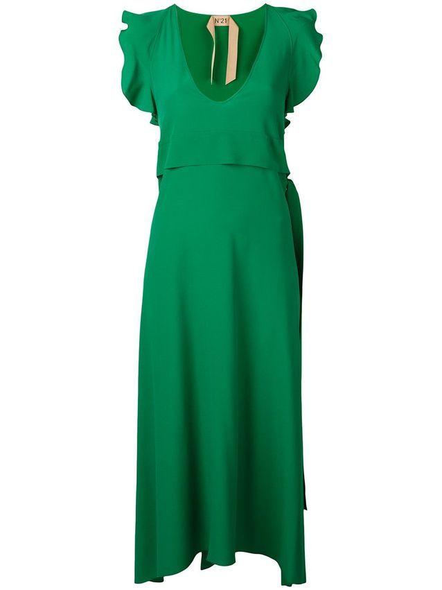 Robe témoin de mariage verte N°21