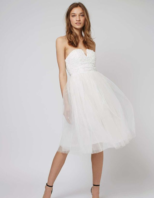 Robe de mariée courte en tulle Topshop
